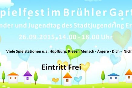 Einladung zum Kinder- und Jugendtag des Stadtjugendring Erfurt am 26.09.2015